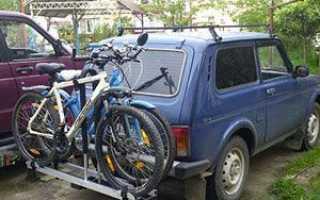 Крепление для велосипеда на машину на крышу
