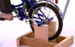 Велотренажер своими руками из велосипеда
