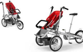 Взрослый велосипед с коляской
