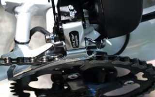 Установка переключателя скоростей на велосипеде