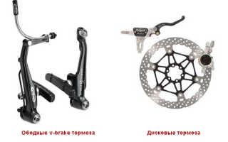 Замена дисковых тормозов на велосипеде