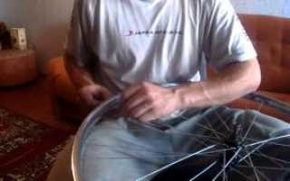 Как спицевать колесо велосипеда