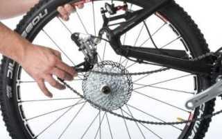 Как поставить заднее колесо на велосипед