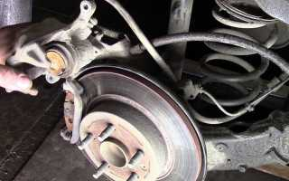Как разжать колодки на дисковом тормозе