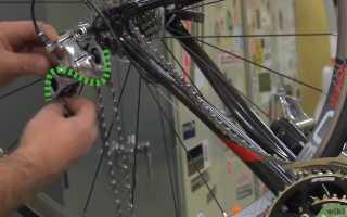 Как одеть цепь на велосипед