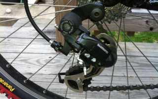 Как установить задний переключатель на велосипед