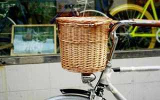 Корзина на велосипед своими руками