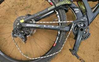 Слетела цепь на велосипеде
