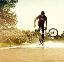 Стант на велосипеде