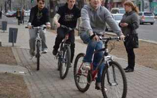 Пдд езда на велосипеде по тротуару
