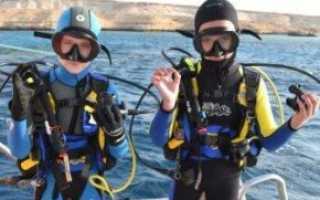 Подводное плавание для детей