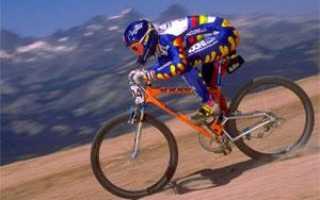 С какой скоростью едет велосипедист
